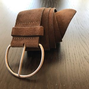 Banana Republic Chocolate Brown Suede Belt